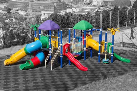 Playground area at Jasan Park in Yeosu