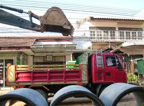 Nong Khai Street Construction