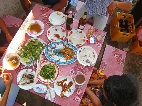 Lunch at Nai's house in Laos