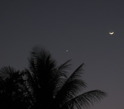 Photo of the Moon and Venus