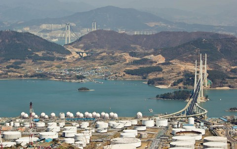 Bridges to Gwangyang from Yeosu