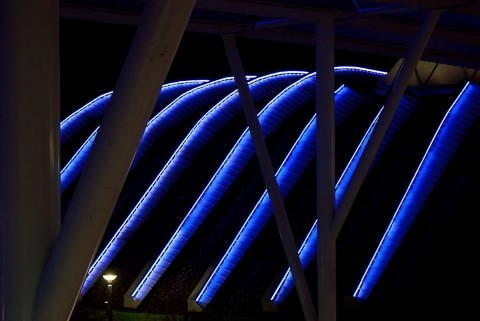 International Pavilion Roof at night