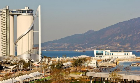Sky Tower and Corporate Sponsor Area at the Yeosu Expo 2012