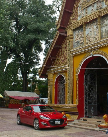 Car at temple