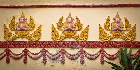 Temple wall detail