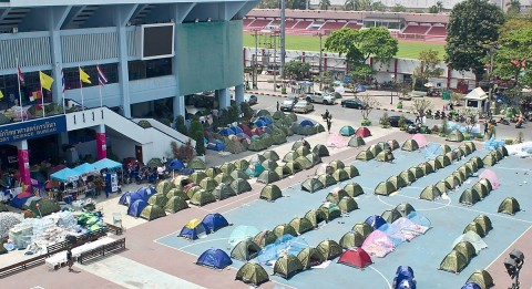 Tents near MBK shopping center