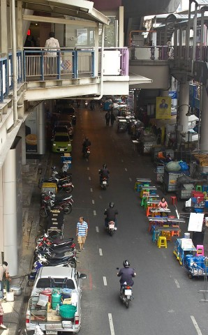 No traffic on Silom Road
