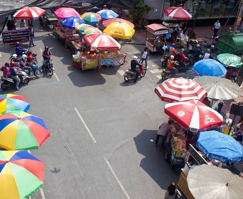 Silom Road vendors