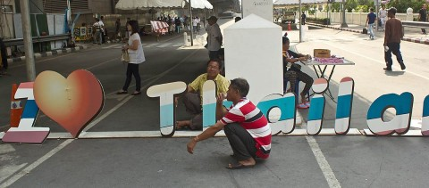 Two men resting