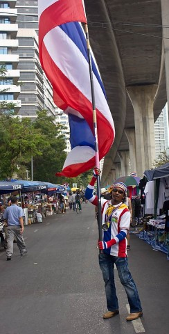 Thailand flag waver.