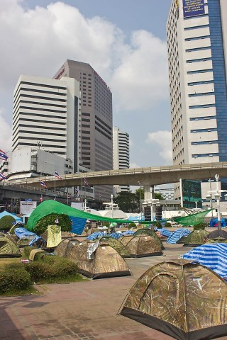 Tent city near Lumphini Park