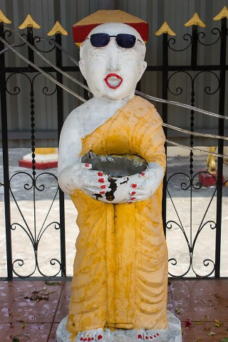 Statue wearing sunglasses