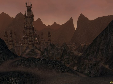 The forbidding Barad Gularan in the Angmar region.