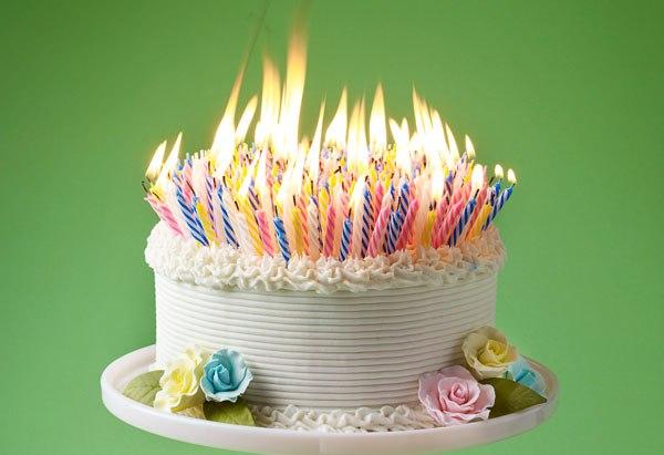 Happy Th Birthday Cake Fire