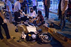 motorbike wreck