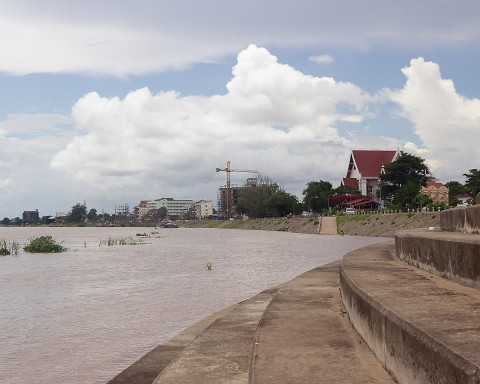 Mekong River rising