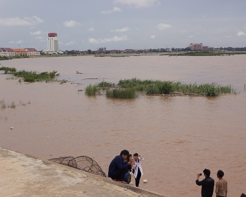 Mekong River rising.