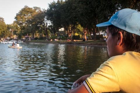 Nai at lake at Lumphini Park
