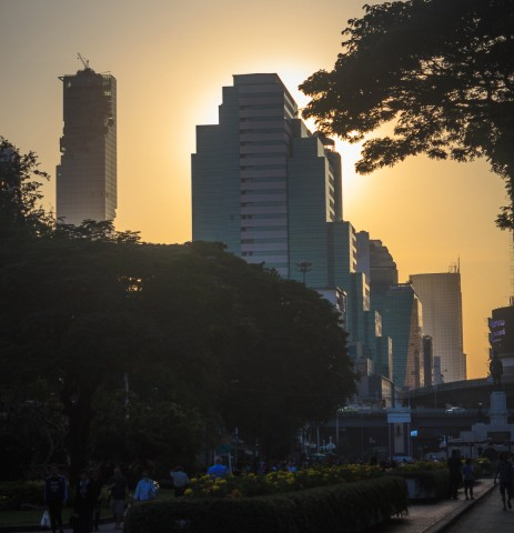 Silom Skyline from Lumphini Park