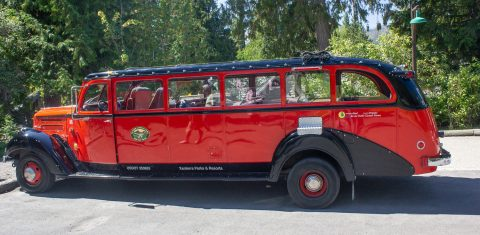 Red Jammer Bus