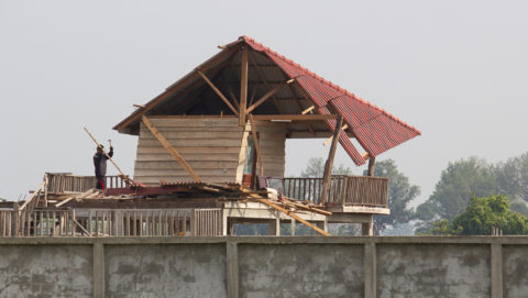 Pavilion after storm