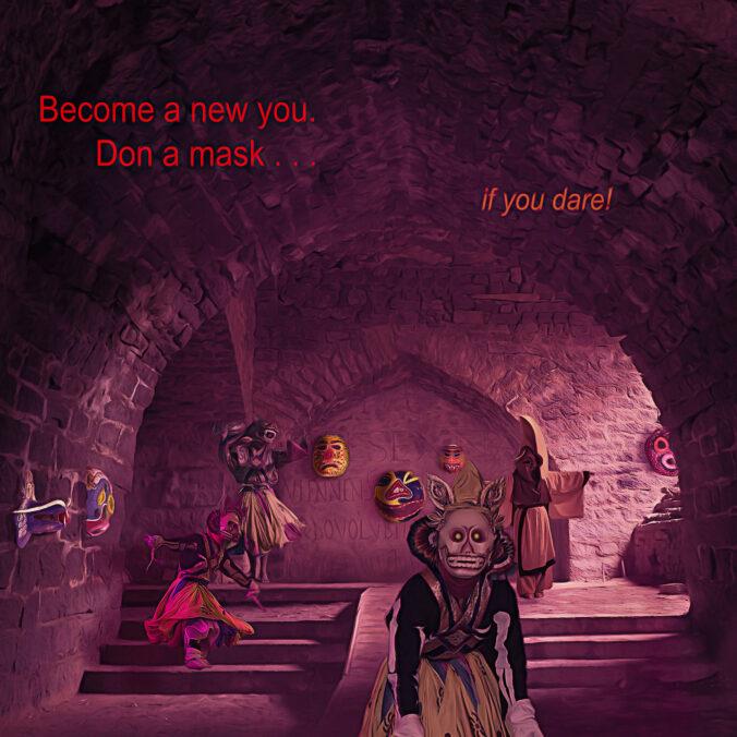 digital art Hall of Masks revised